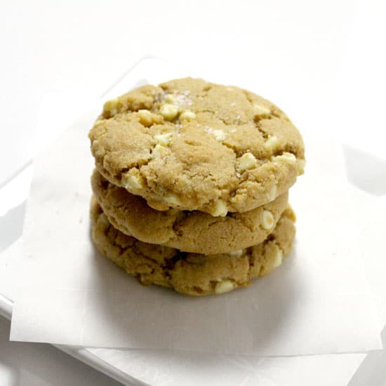 Stacked Cookies with white chocolate chips