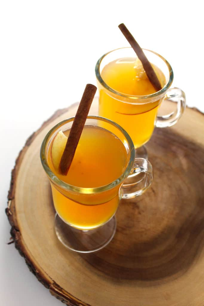 The Apple Cider Hot Toddy is the perfect fall cocktail to sip on chilly evenings as you warm by the fire or serve as a Thanksgiving after dinner drink.