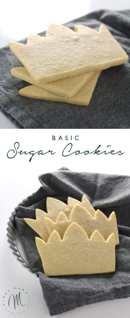 This is the recipe for basic sugar cookies for decorating with royal icing. Each cookie shape will bake perfectly with neat edges.