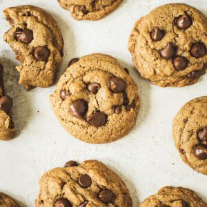 Whole wheat chocolate chip cookies.