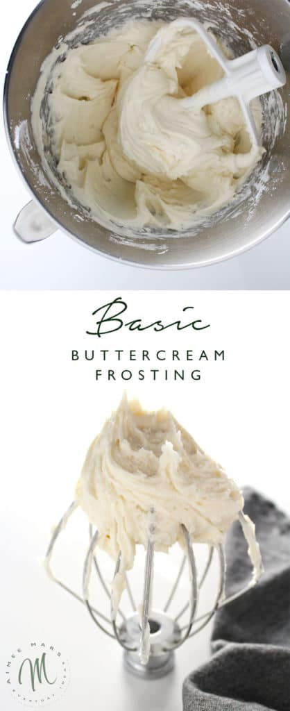 This is the most basic buttercream frosting recipe that is perfect for frosting cakes, especially layer cakes, and cupcakes alike.