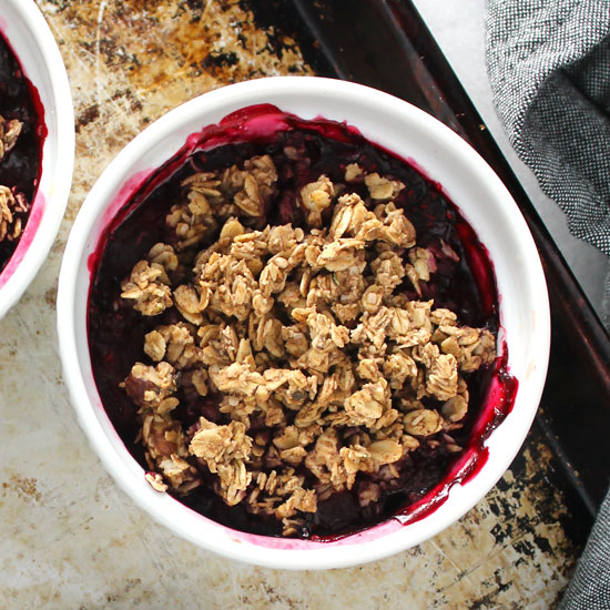 Healthy Raspberry Crisp