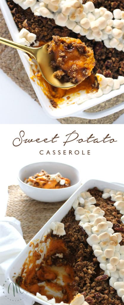 The Sweet Potato Casserole is a traditional Thanksgiving staple and a fall favorite. This is a classic recipe, which combines two delicious toppings.