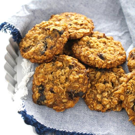 Vegan Dairy-Free Oatmeal Cookies