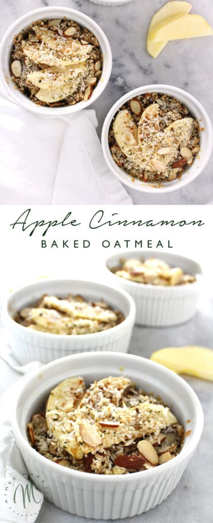 The Apple Cinnamon Baked Oatmeal is a perfect recipe for those mornings when you don't want something too sweet and might be tired of eggs.
