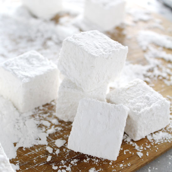Homemade Marshmallows stacked on top of each other