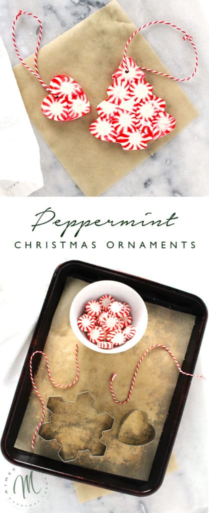 This Peppermint Christmas Ornament DIY project is simple and fun, which makes it a great holiday activity for kids. Use to decorate your tree or gifts!