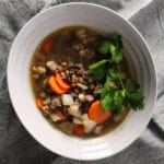 This heartwarming Beef & Lentil Stew is easy to prepare, protein packed, and great for those cold winter months when you're dreaming of warmer days.
