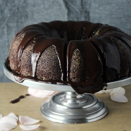 Chocolate Stout Bundt Cake with Irish Cream Glaze