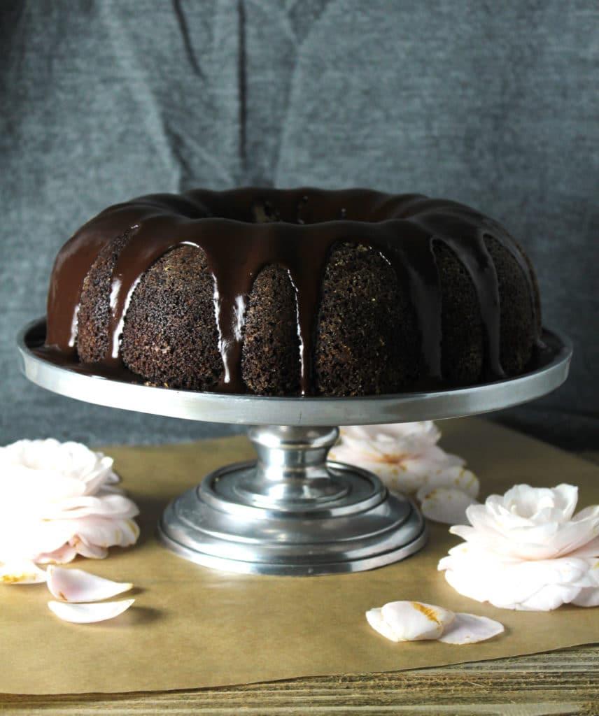 Chocolate Stout Bundt Cake with Irish Cream Glaze | Aimee Mars Living