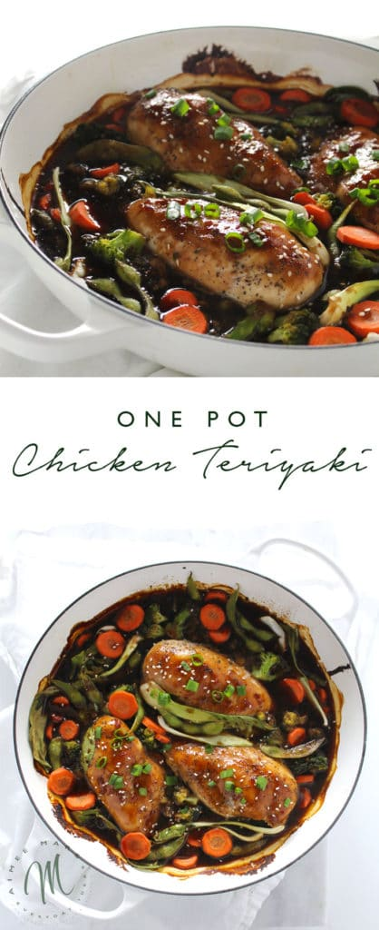 This simple and easy recipe for Skillet Chicken Teriyaki is the perfect weeknight meal. The chicken is perfectly tender and the veggies tangy and savory.