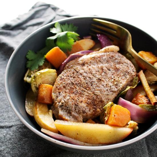 Harvest Pork Chop Sheet Pan Dinner