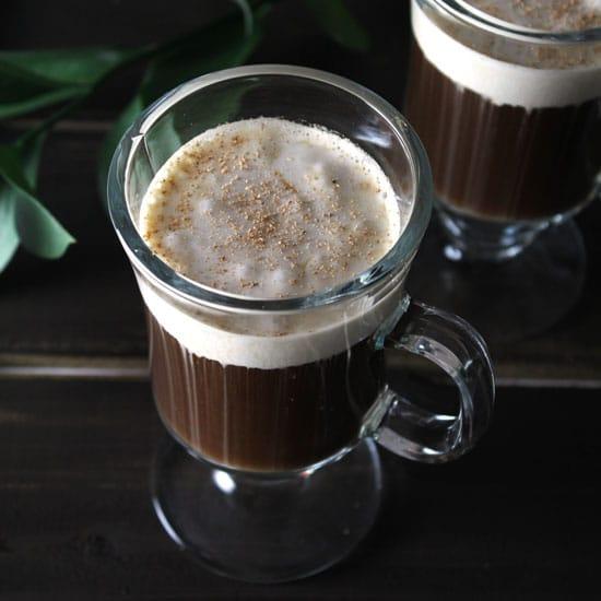 Traditional Irish Coffee with Coconut Cream