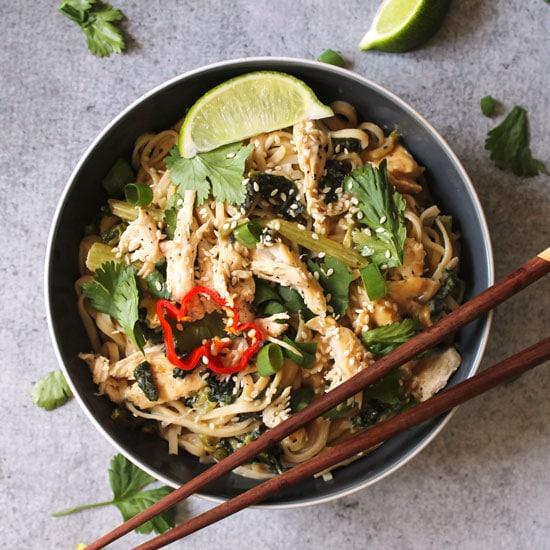 Gluten Free Thai Peanut Chicken Noodle Bowl