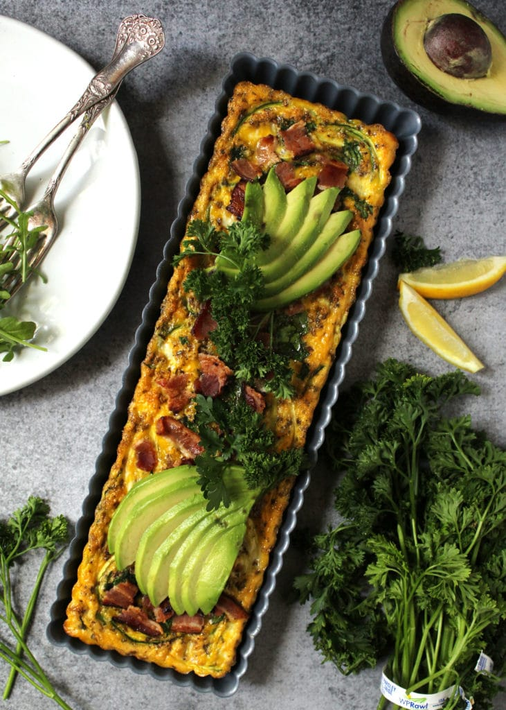 This Hollywood California Frittata is the perfect meal to enjoy while eating Paleo or Bulletproof, but also makes for the perfect brunch menu recipe | @AimeeMarsLiving | #CaliforniaFrittata #Paleo #Bulletproof #Frittata