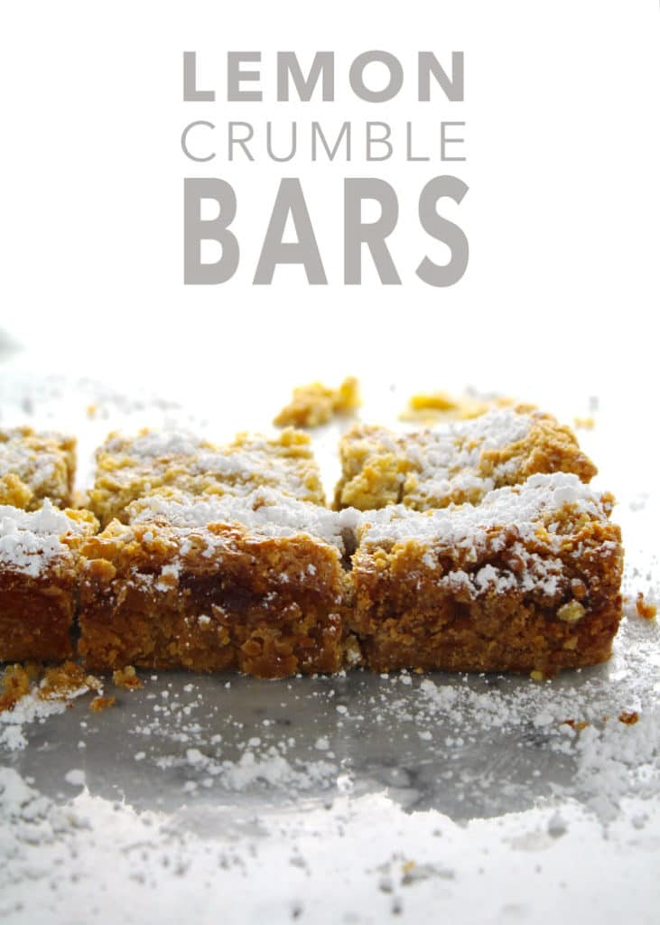 Not going to lie, but these are the BEST lemon bars you will ever taste. They are perfectly tangy and sweet with the right hint of lemony flavor | via @AimeeMarsLiving | #LemonBars #Crumble #Bars