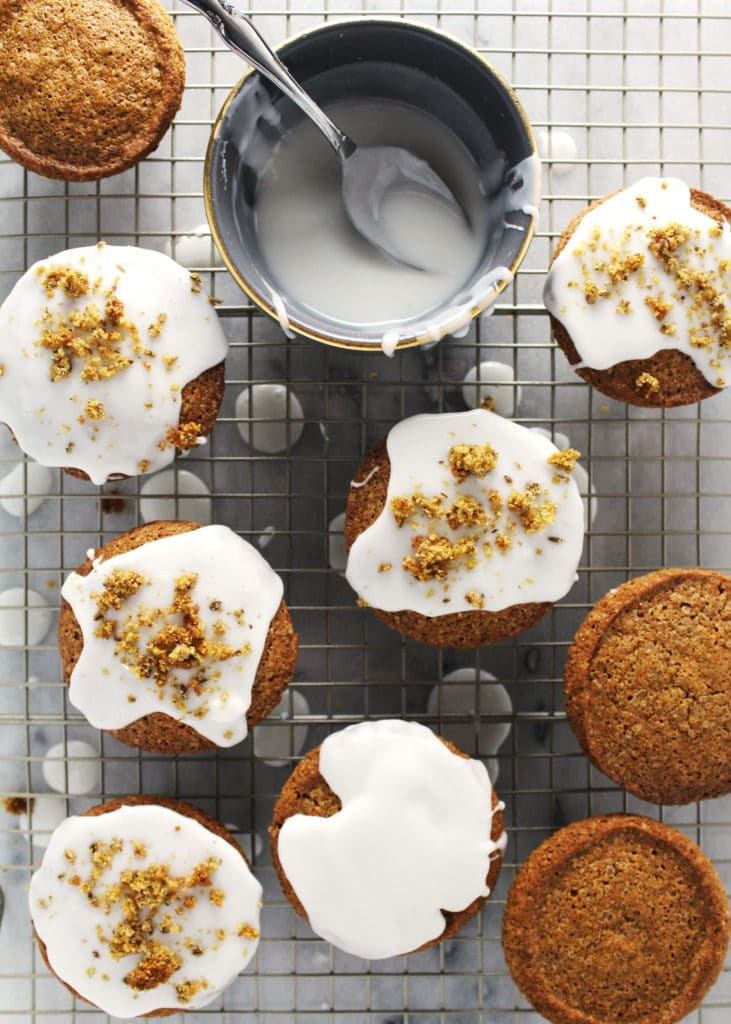 These delicious little morning delights are maple and orange flavored sweet with a hint of spice for a nice take on your morning muffin | via @AimeeMarsLiving | #Muffins #OrangeSpice #MapleGlazes.2