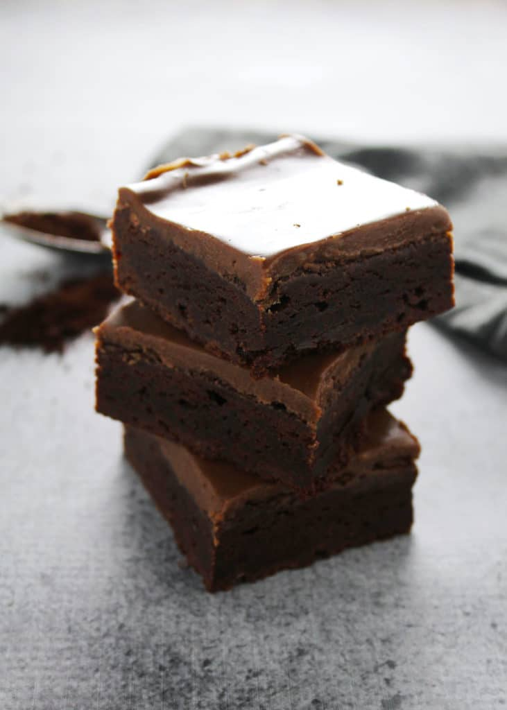 If you're dying to know what makes these Fudge Brownies the best brownie ever then click this recipe to learn the secret ingredient | @aimeemarsliving | #Brownies #FudgeBrownies #SecretIngredient