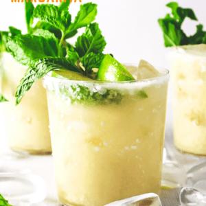 pineapple coconut margarita pin image
