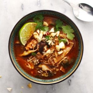 Instant Pot Thai Chicken and Rice Soup