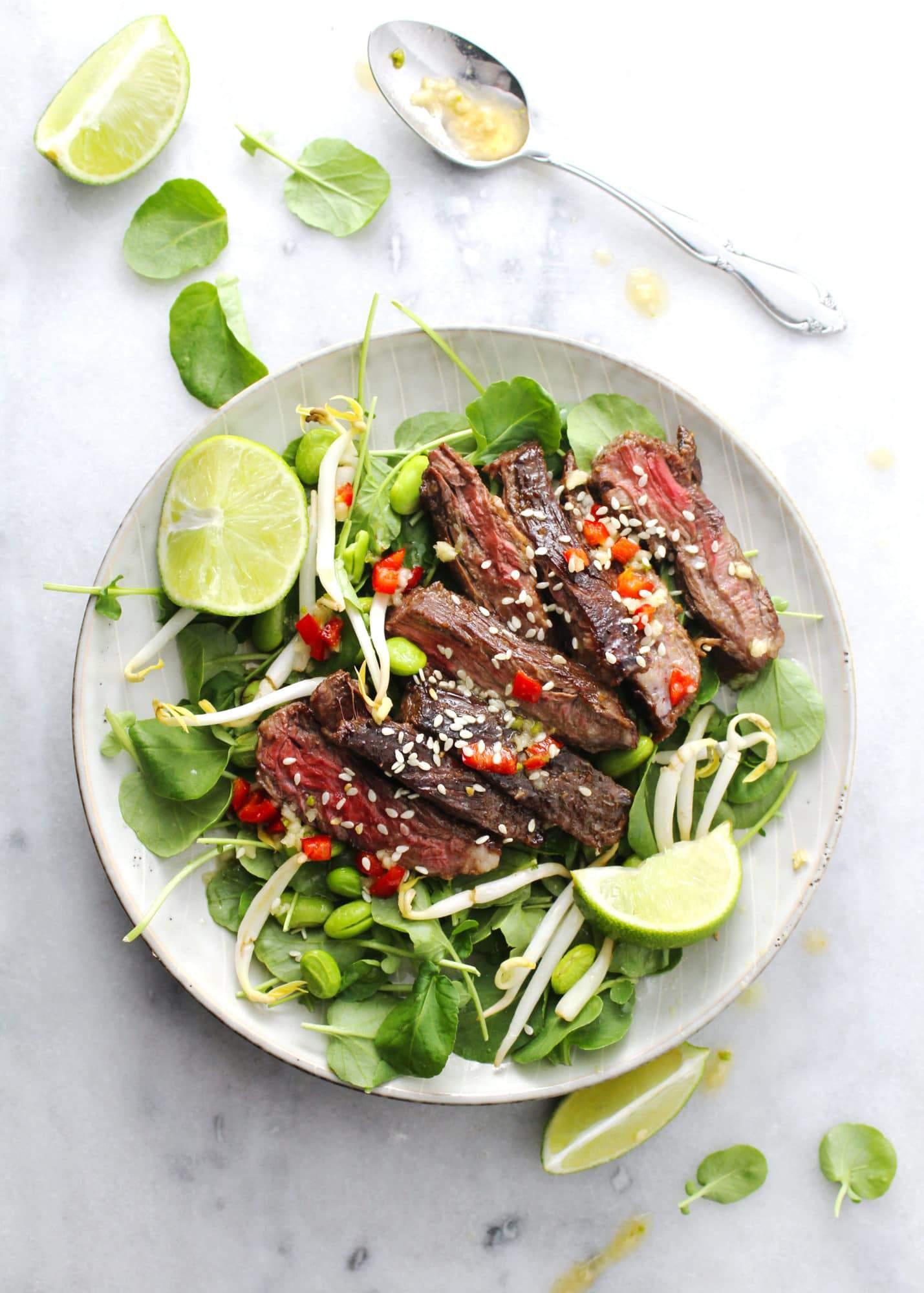 Korean-BBQ-Steak-Salad
