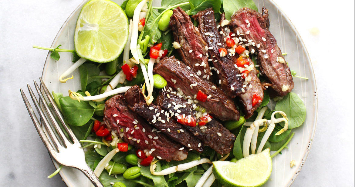 Korean BBQ Steak Salad