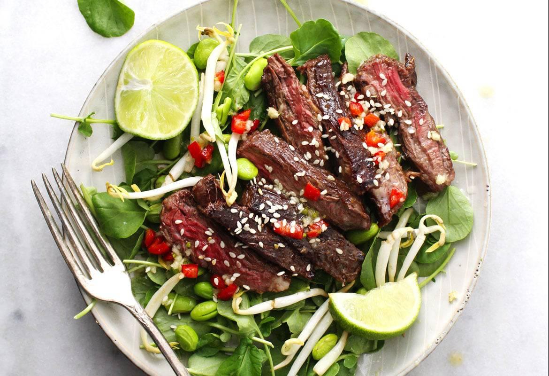Korean BBQ Steak Salad