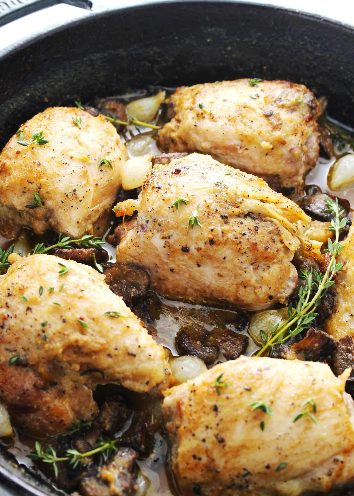 Skillet Chicken in Mushroom Sauce