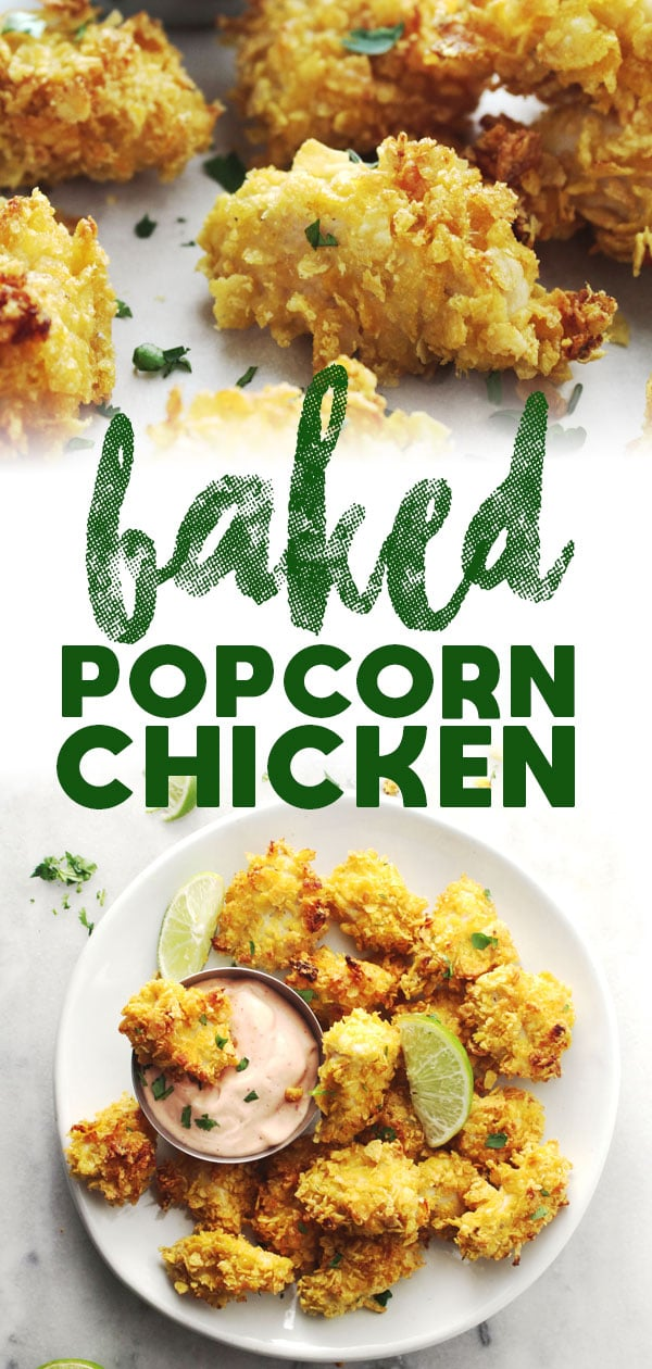 Baked Popcorn Chicken