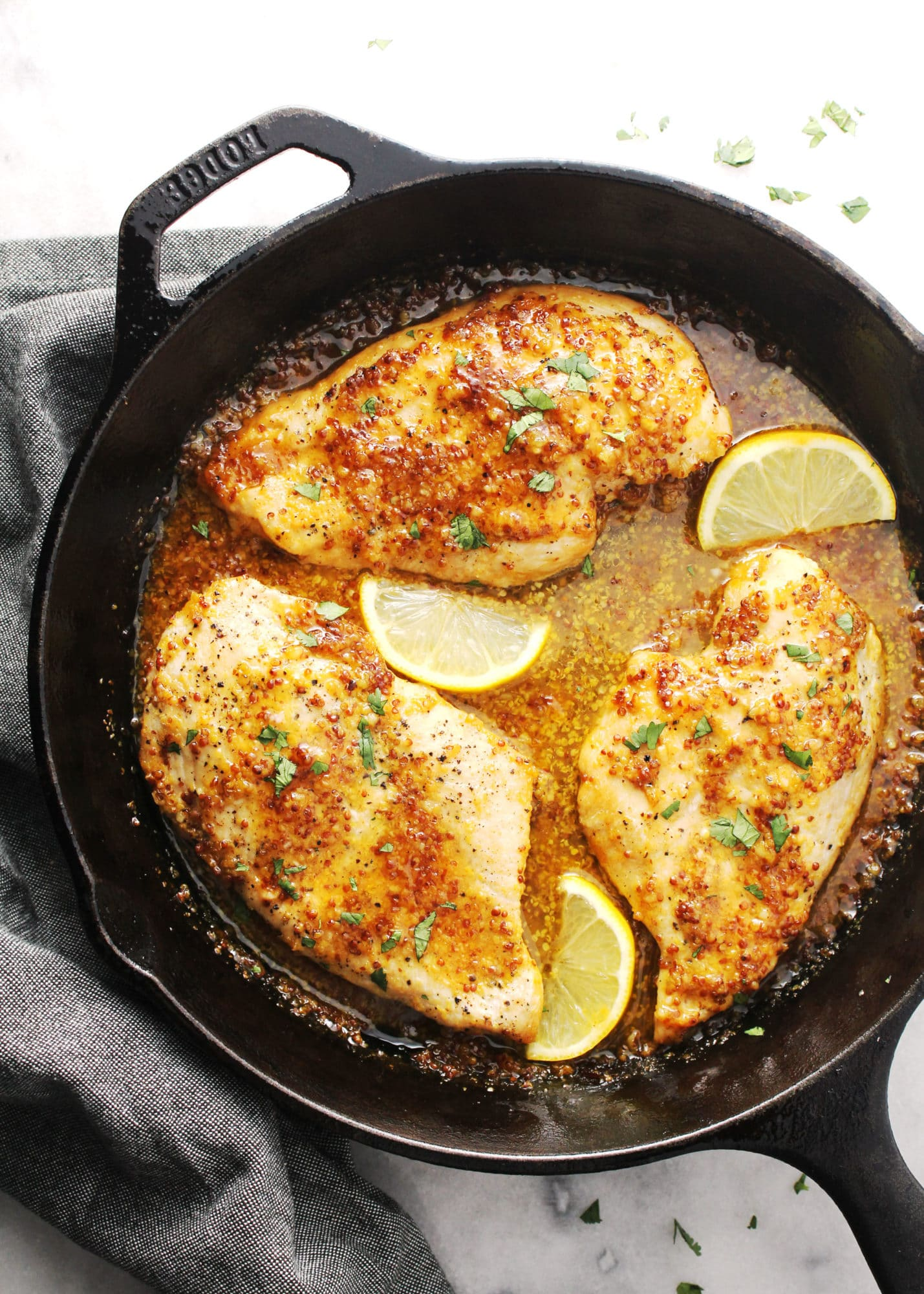 Honey Mustard Skillet Chicken