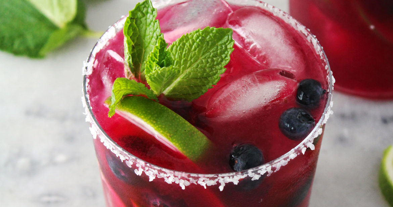 Blueberry Mint Margarita