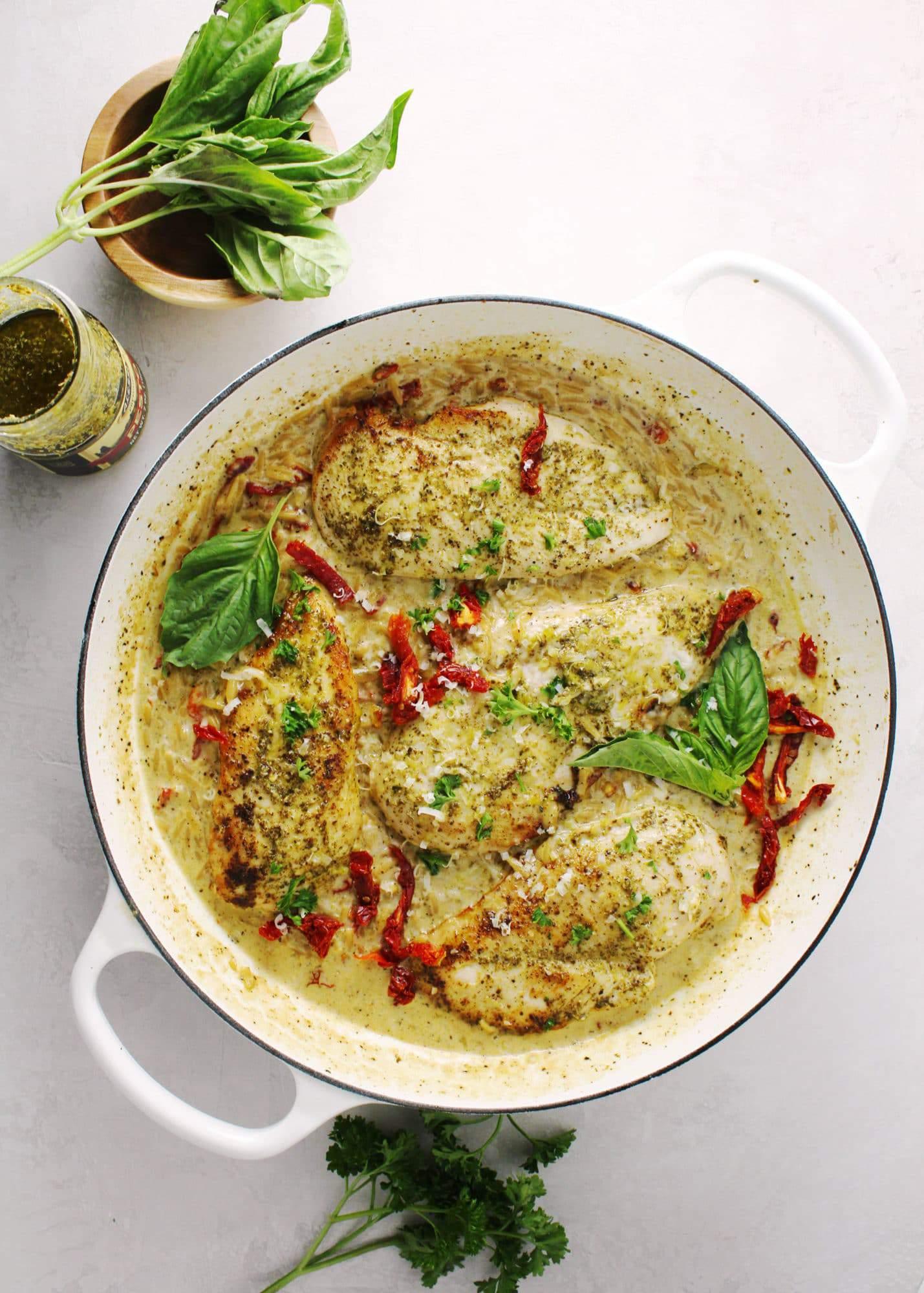 Creamy Basil Pesto Chicken