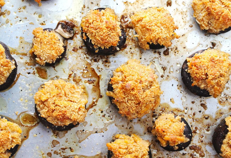 Pimento Cheese Stuffed Mushrooms