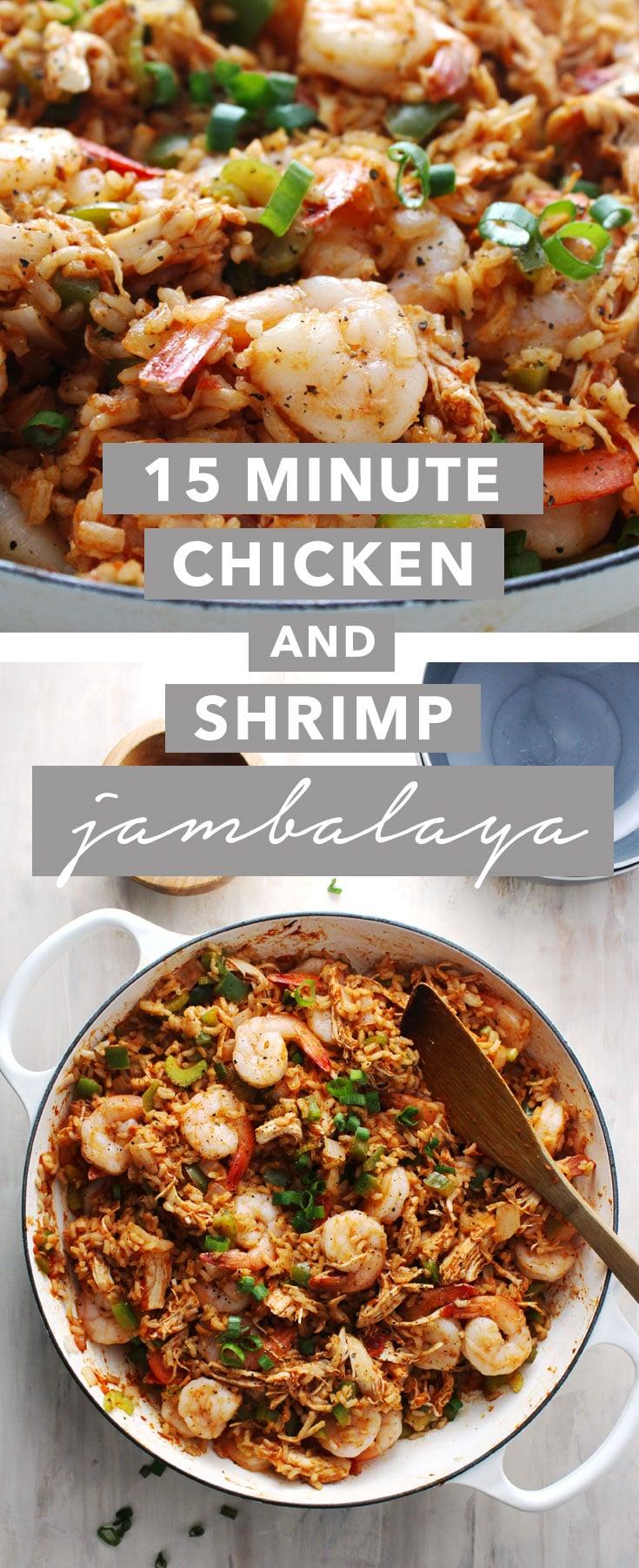 15 Minute Chicken and Shrimp Jambalaya