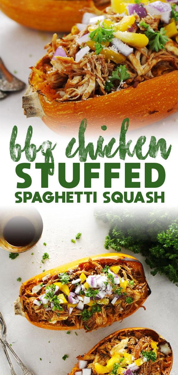 Barbecue Chicken Stuffed Spaghetti Squash