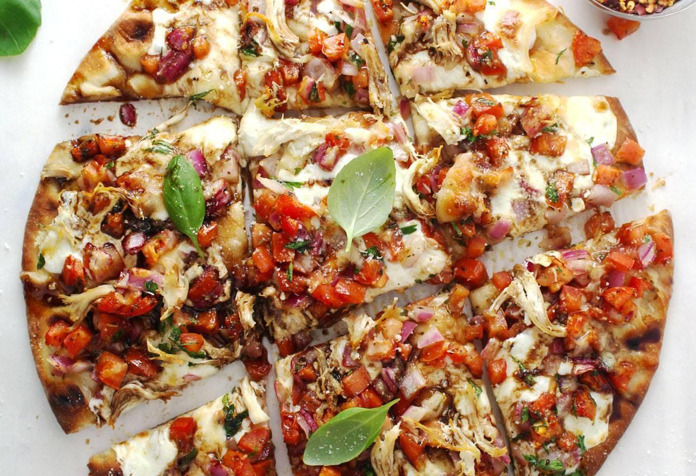 Bruschetta Chicken Pizza