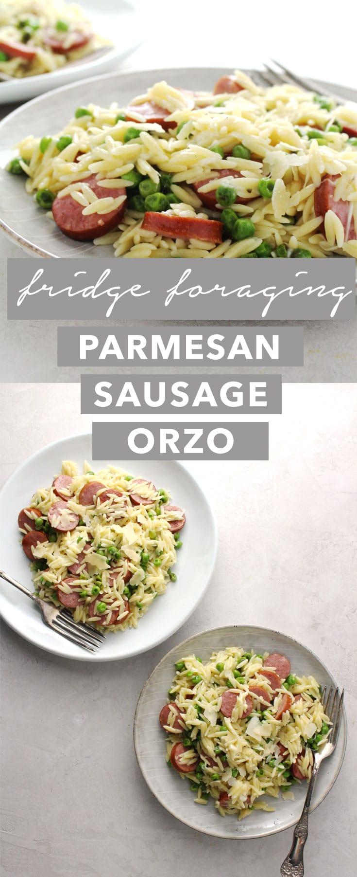 Parmesan Sausage Orzo