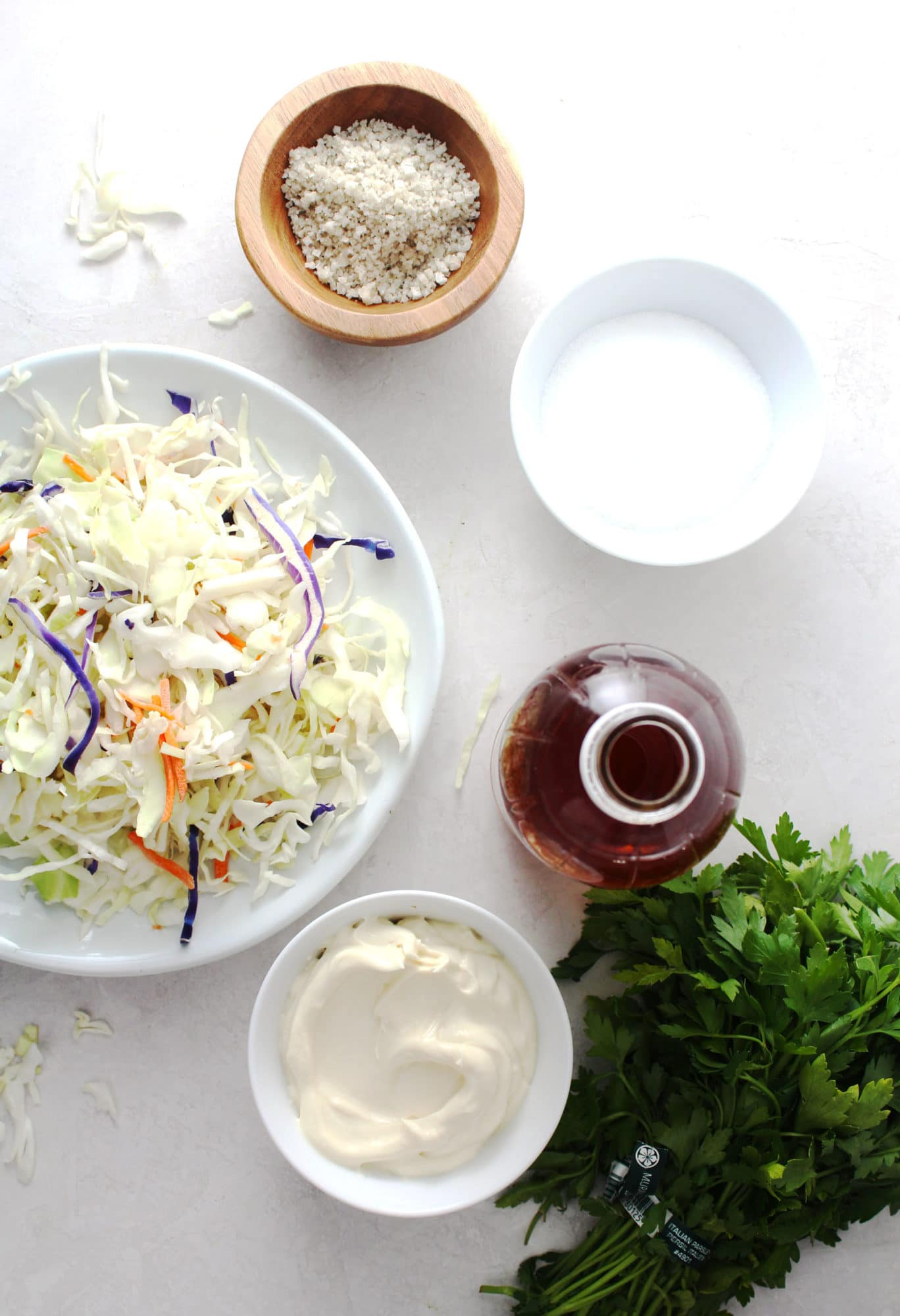 ingredients for sweet slaw