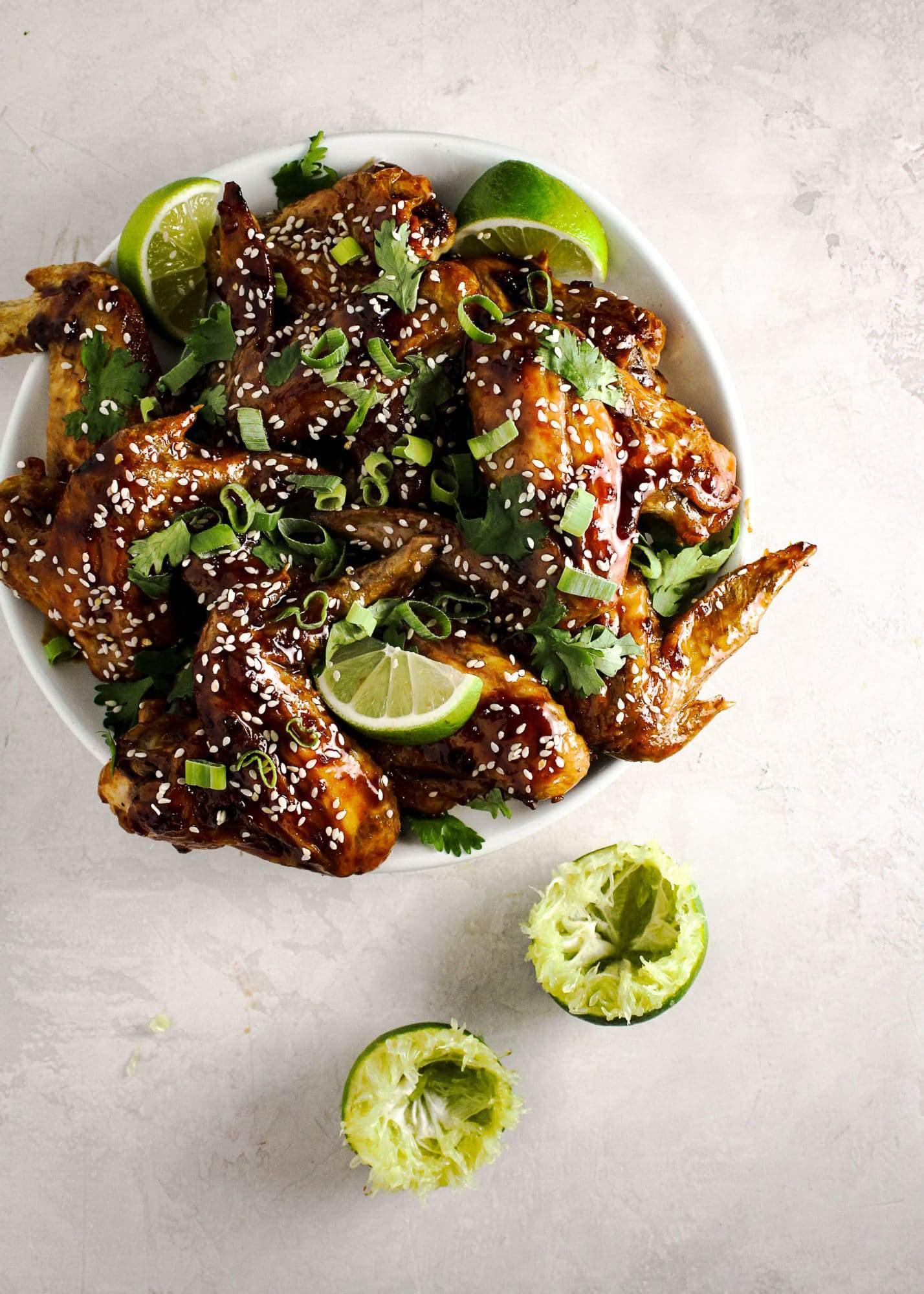 Crispy Honey Sriracha Wings