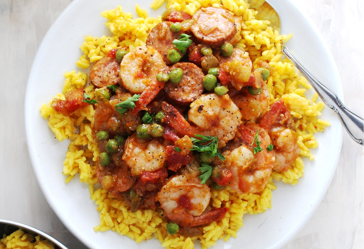 Shrimp and Sausage Spanish Rice