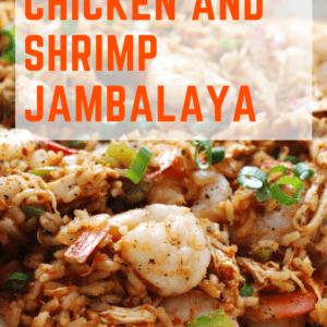 15 Minute Jambalaya with orange title