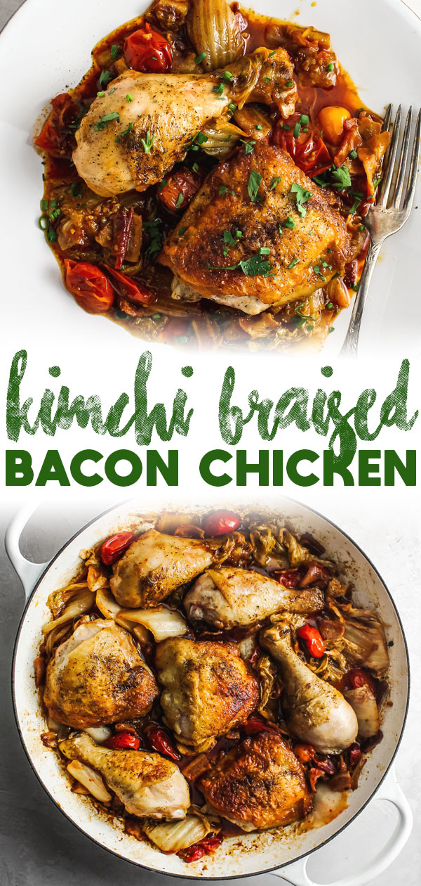 Kimchi Braised Bacon Chicken
