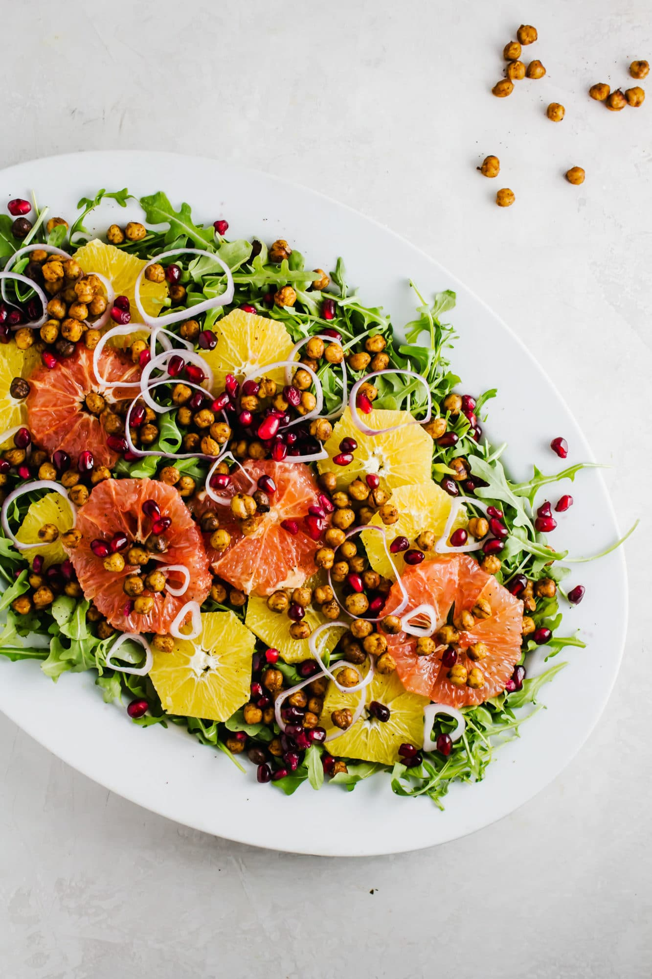 Winter Citrus Salad with Spicy Chickpeas
