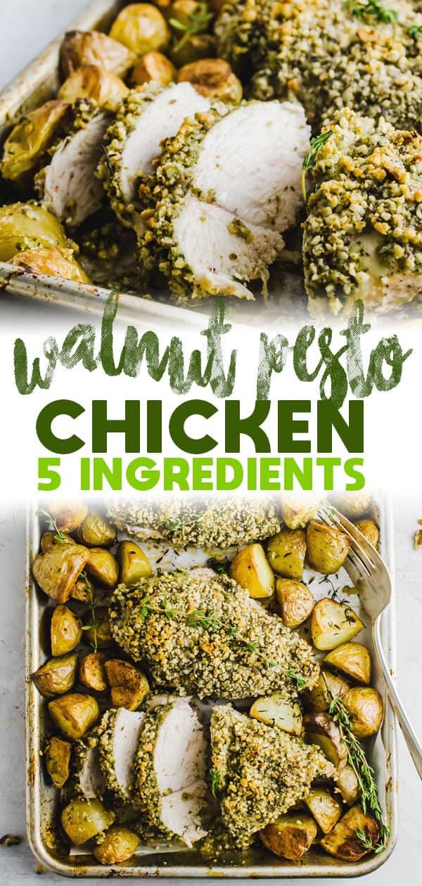 5 Ingredient Walnut Pesto Chicken