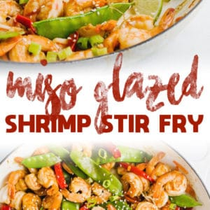 15 Minute Miso Glazed Shrimp Stir Fry