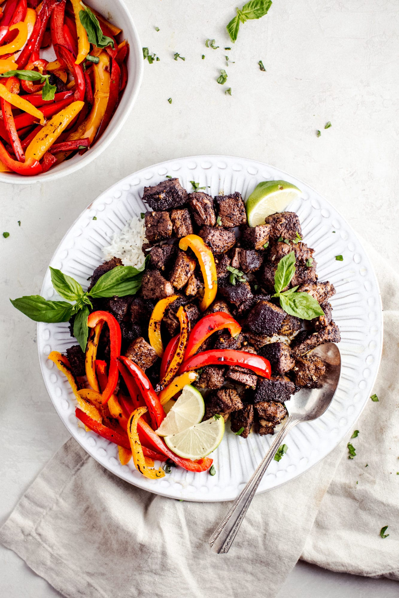 Spiced Butter Steak and Peppers