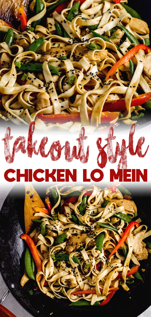 Take Out Style Chicken Lo Mein