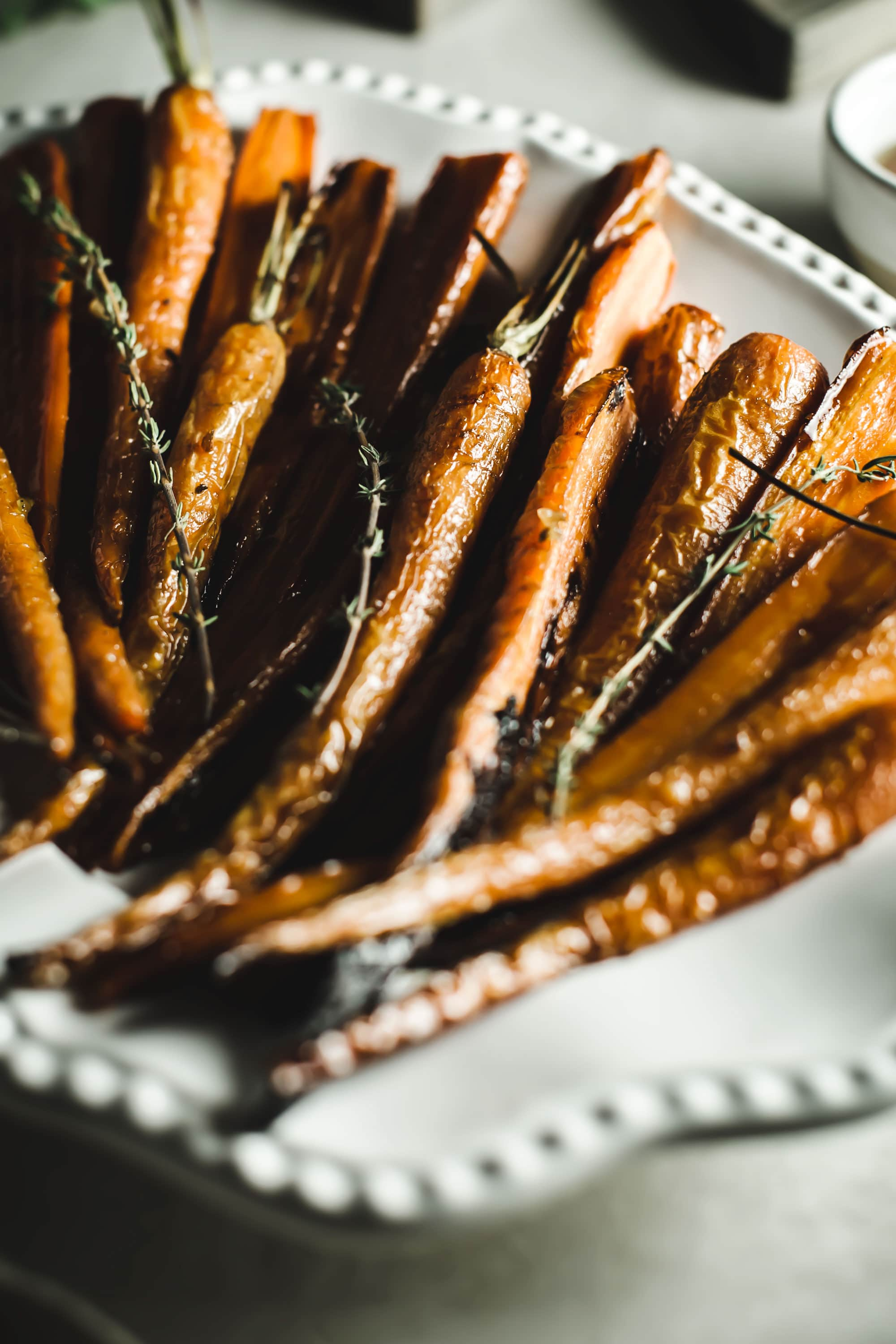 cooked and roasted carrots