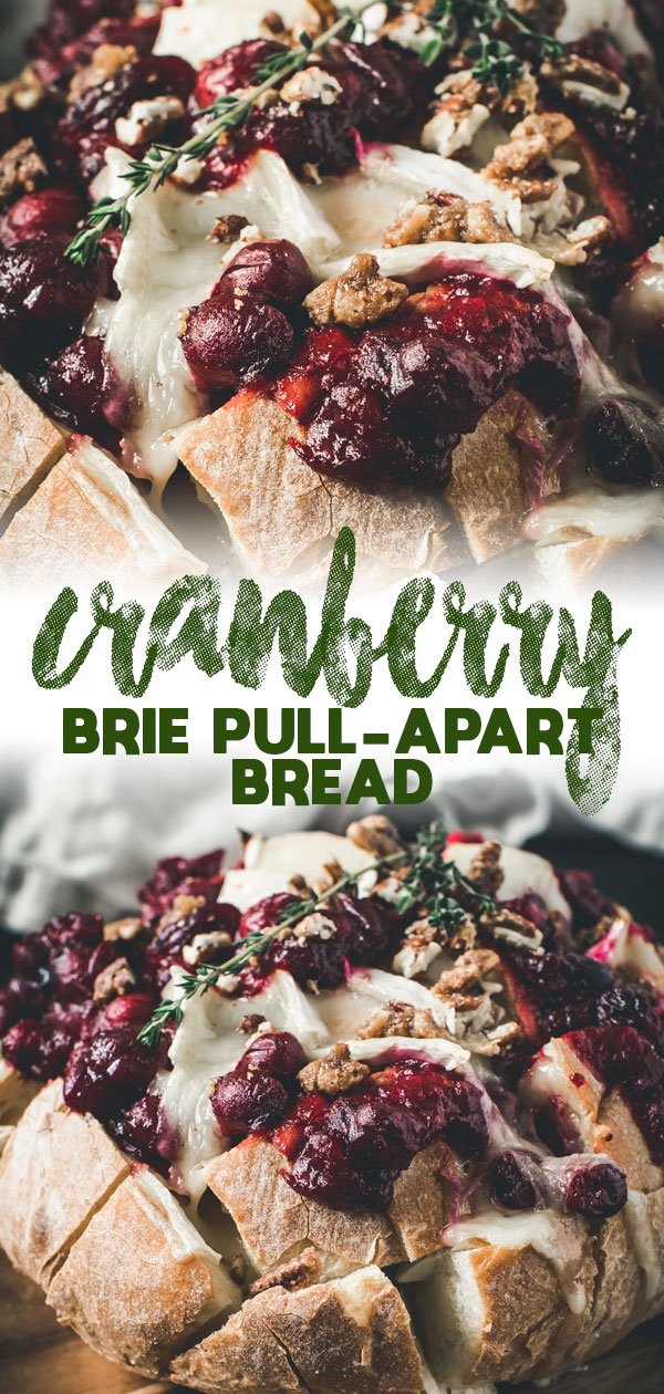 cranberry brie pull-apart bread long pin