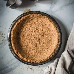 graham cracker crust in pie tin